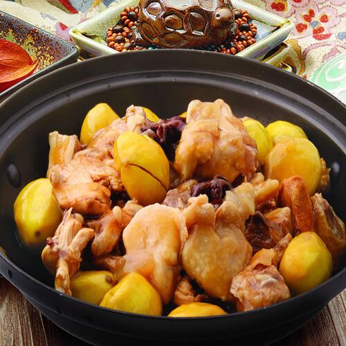 营养的砂锅蚝油栗子鸡