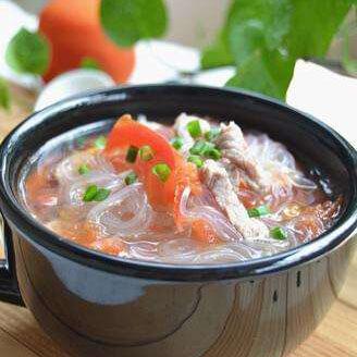 番茄瘦肉粉丝汤