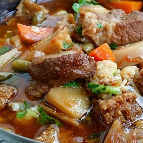 好吃的烤香辣排骨茄子土豆