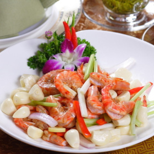 梅豆炒基围虾