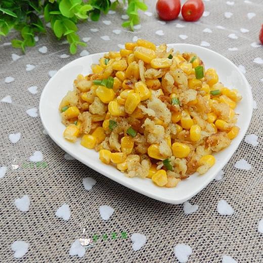 椒盐炒玉米粒