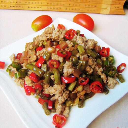 肉沫煸豇豆
