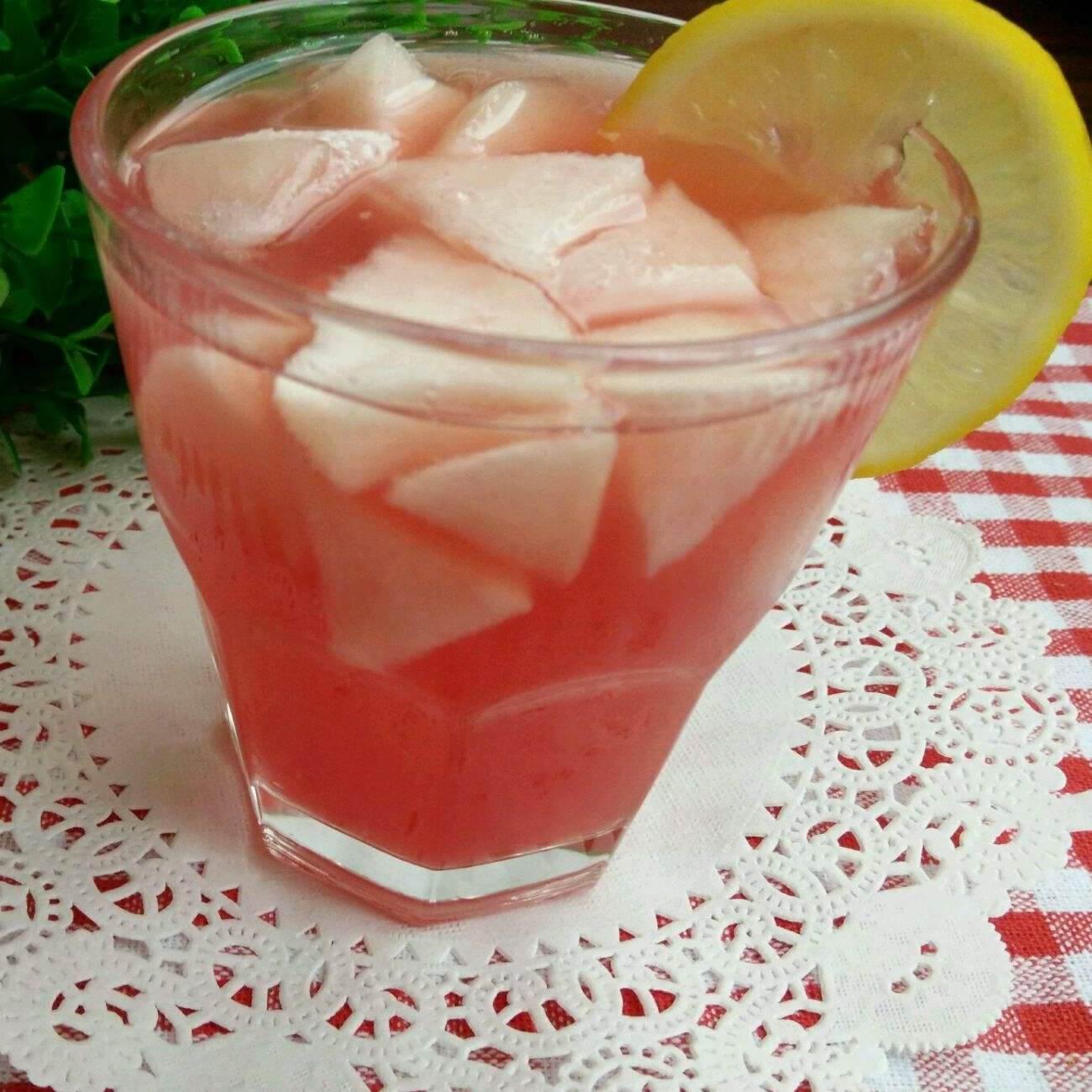 简单的柠檬西瓜蜂蜜水