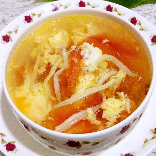 西红柿银鱼蛋汤