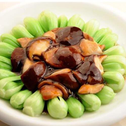 简单版青菜炒香菇