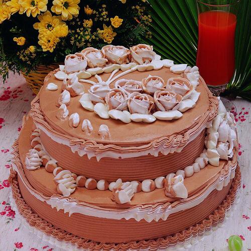 玫瑰花朵蒸蛋糕