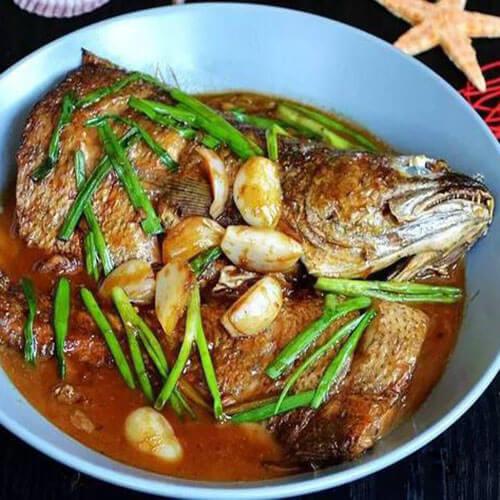 蒜子烧鲈鳗鱼