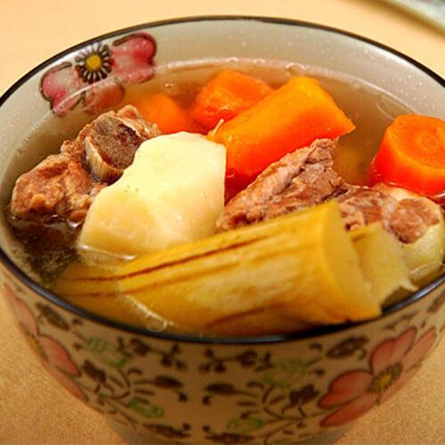 茅根竹蔗苹果汤