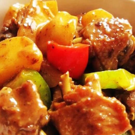 大盆土豆焖鸡