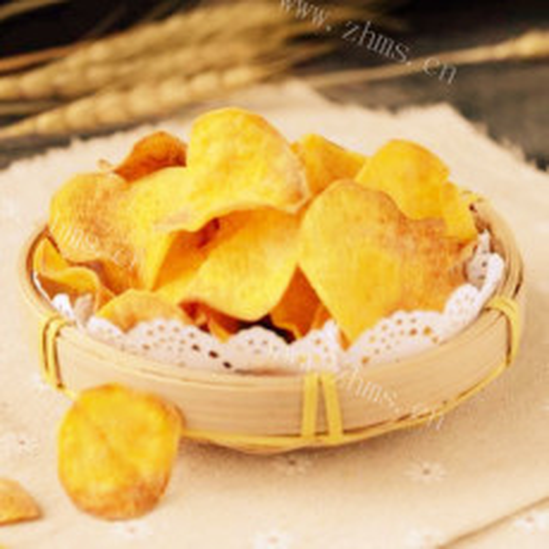 香脆的奶香红薯片