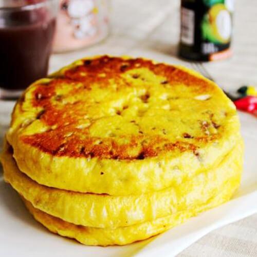 南瓜红豆发面饼