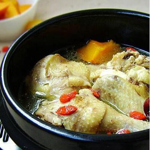 香菇黄豆炖鸡
