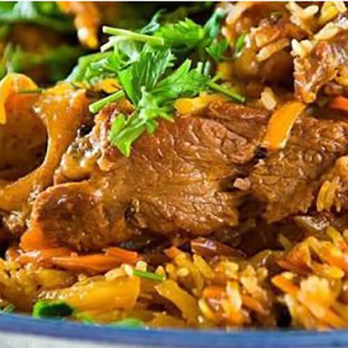 羊肉焖米饭
