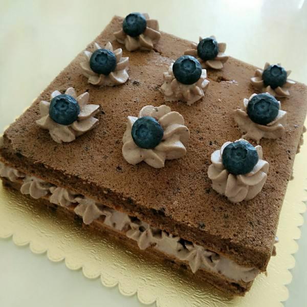 可可奶油方形蛋糕