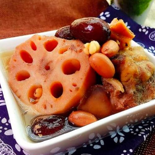 花生薏米红枣骨藕汤