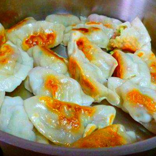 油煎酸菜水饺