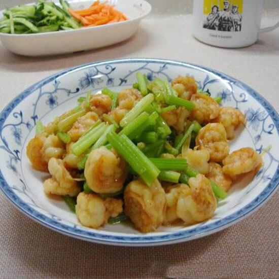 香芹炒虾仁
