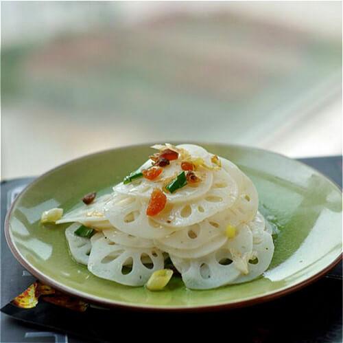 葱油虾皮藕片