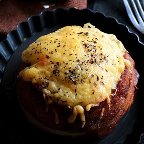 培根奶酪肉饭盅