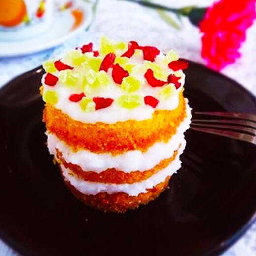 蔓越莓椰蓉戚风蛋糕