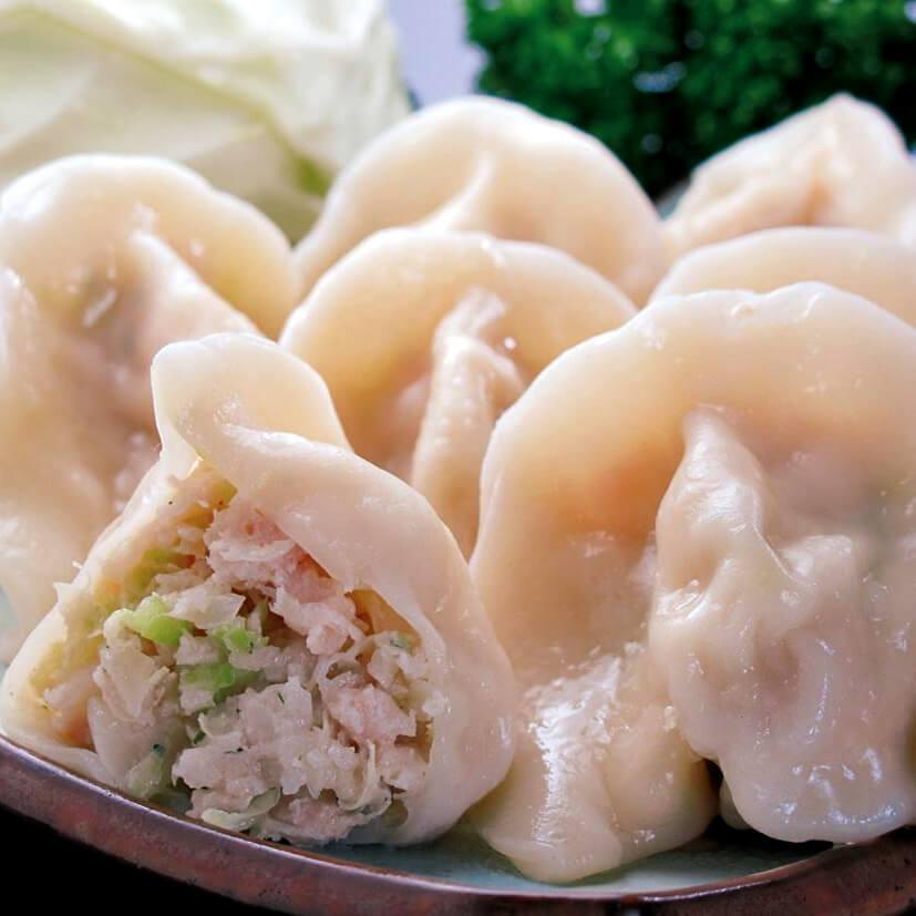 新鲜美味的鸡肉水饺