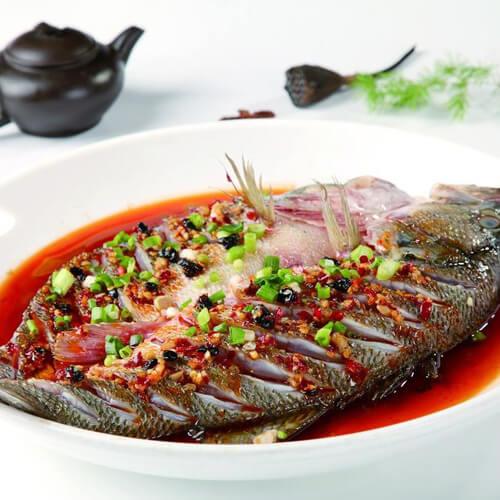 香辣豆豉海鲈鱼
