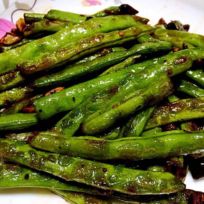 茄汁干煸四季豆