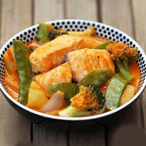红咖喱三文鱼