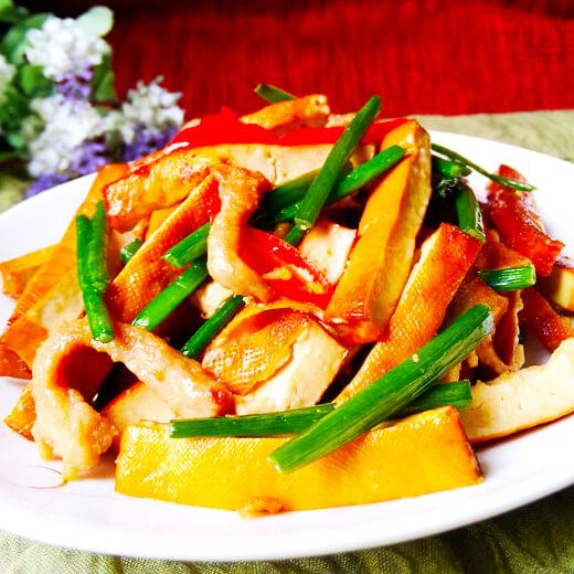 肉丝炒豆腐