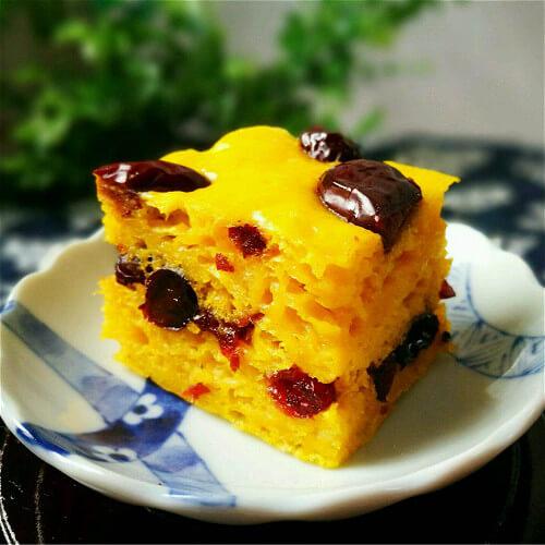 好吃的南瓜芸豆发糕