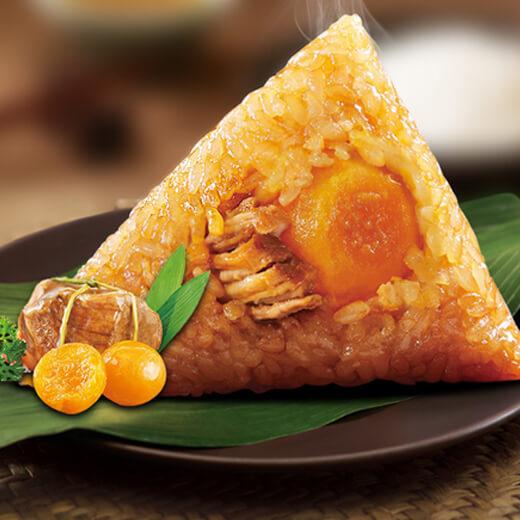 油煎蛋黄鲜肉粽