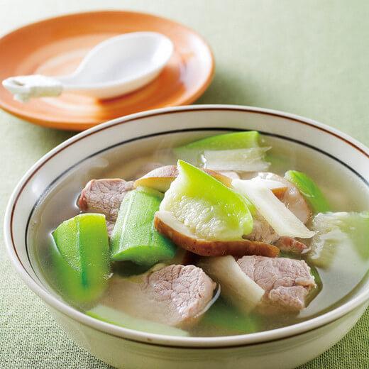 瘦肉小白菜糊汤
