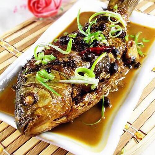 美味的青椒焖草鱼