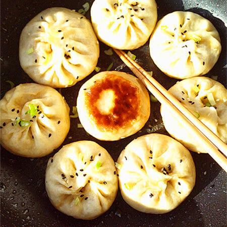 香菇虾仁生煎包