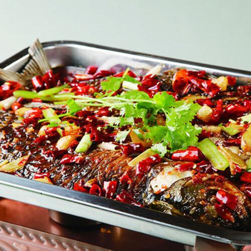 美味的炒锅自制烤鱼