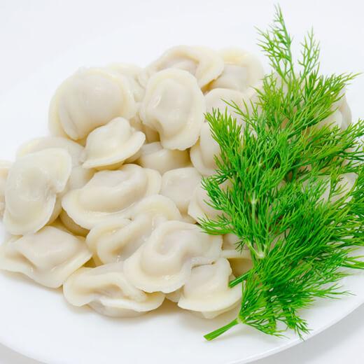 美味的茴香鸡蛋饺子蒸饺