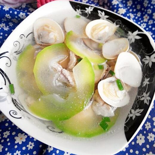 蛤蜊节瓜汤