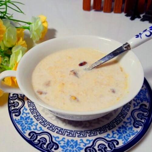 红薯牛奶燕麦羹