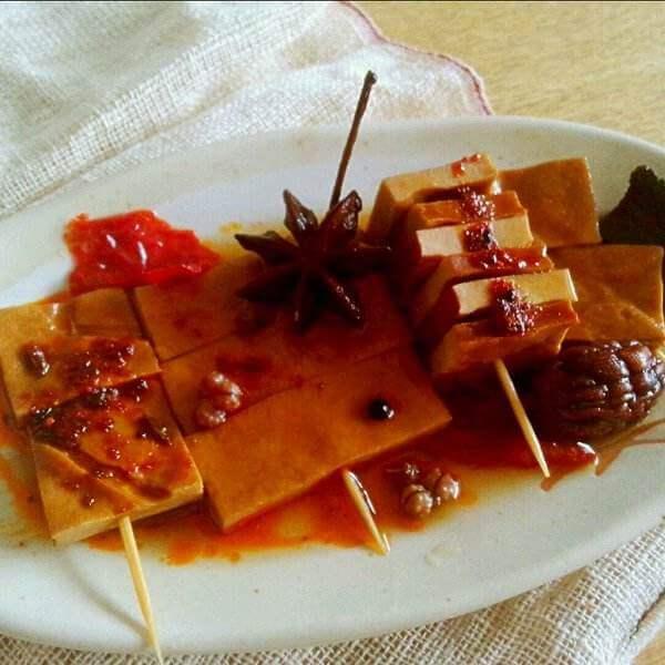 辣干豆腐串