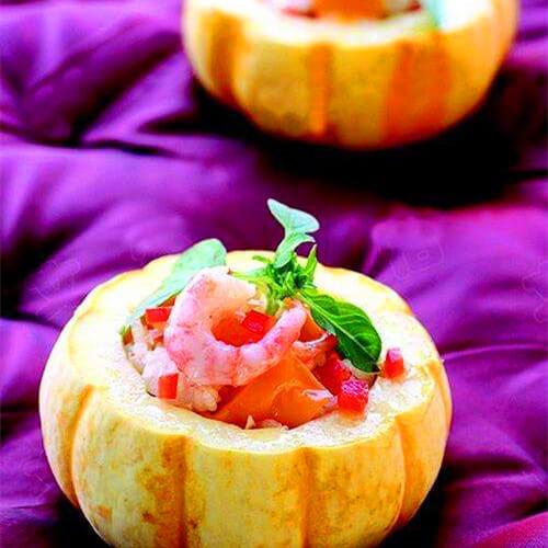 鲜虾金瓜盅