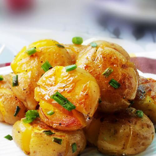 美味的香辣煎土豆