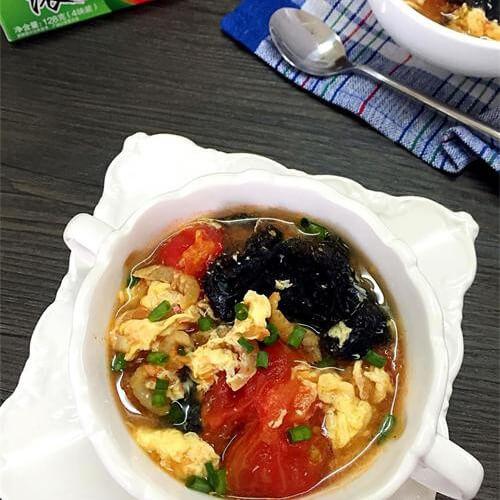 番茄肉虾米汤