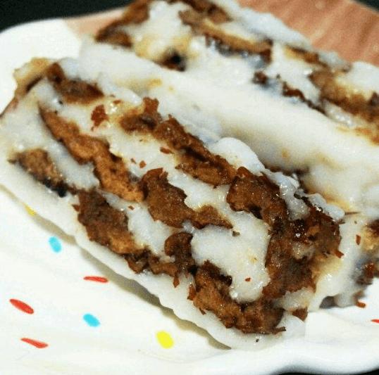 香甜可口的糯米粉小枣切糕
