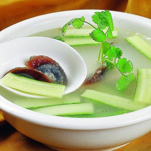 松花皮蛋黄瓜汤