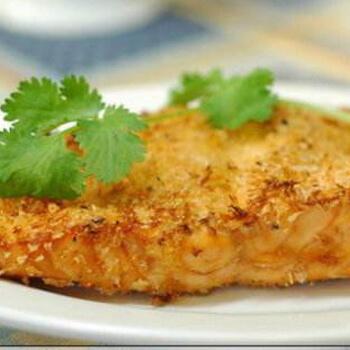香酥烤三文鱼