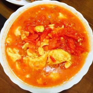 青菜番茄炒蛋