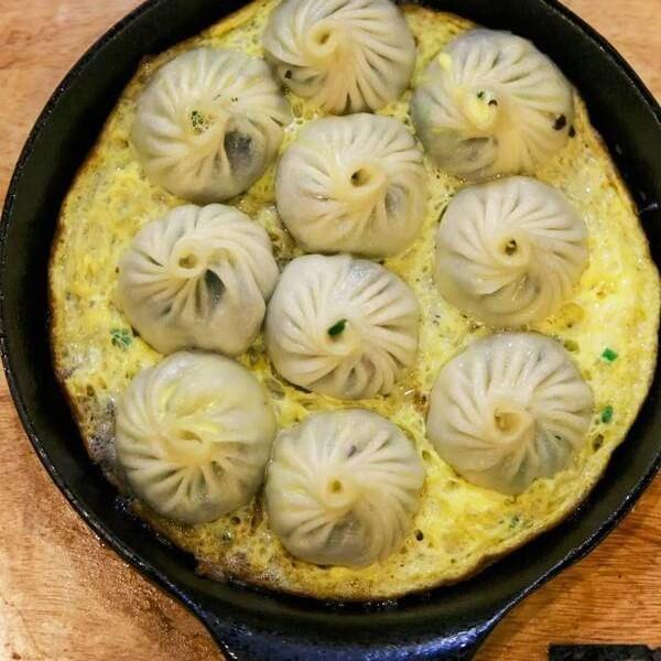 生煎 韭菜鸡蛋包