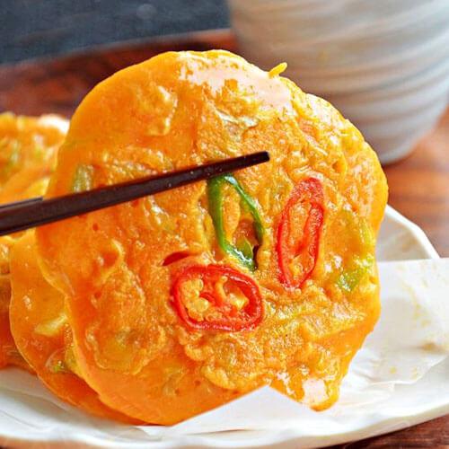 韩式角瓜泡菜煎饼