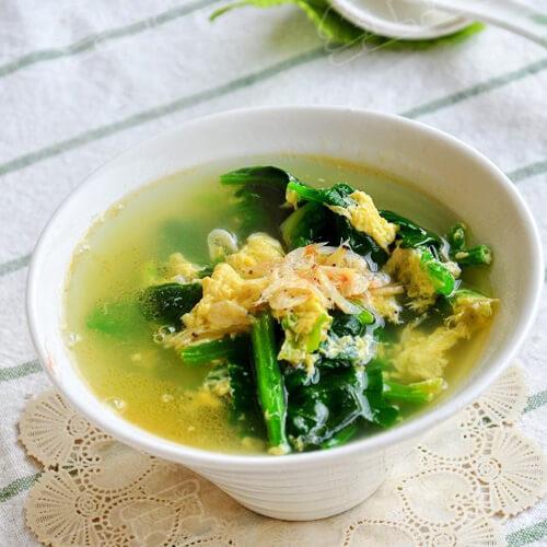 虾皮菠菜蛋汤