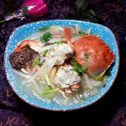 萝卜河蟹汤